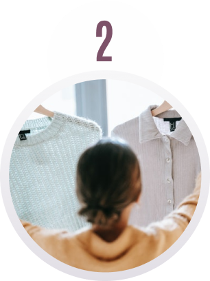 STEP 2 | Select items from our go-to list to create your virtual closet.